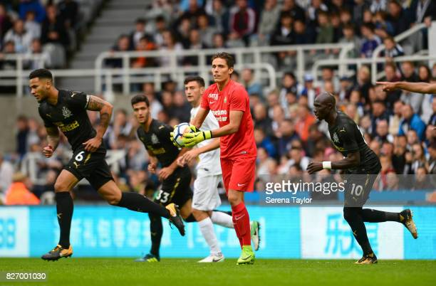 Hellas Verona Goalkeeper Marco Silvestri catches the ball during the Pre Season Friendly match between Newcastle United and Hellas Verona at StJames'...
