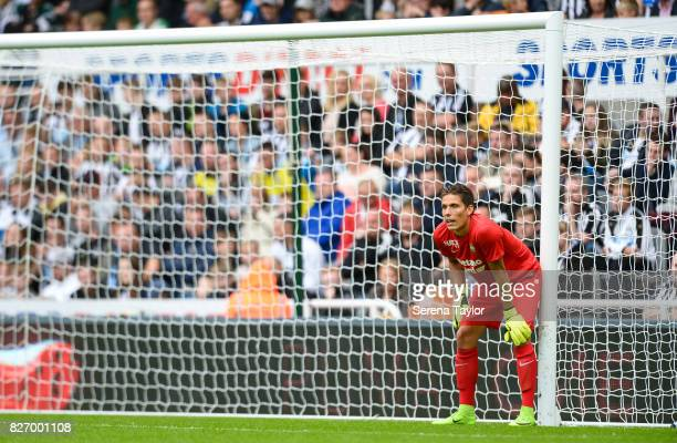 Hellas Verona Goalkeeper Marco Silvestri stands in goal during the Pre Season Friendly match between Newcastle United and Hellas Verona at StJames'...