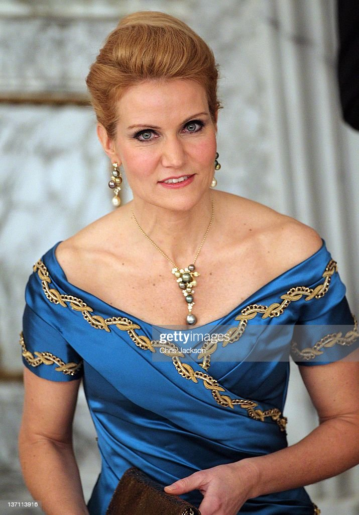 Helle ThorningSchmidt attends a Gala Dinner to celebrate Queen Margrethe II of Denmark's 40 years on the throne at Christiansborg Palace Chapel on...