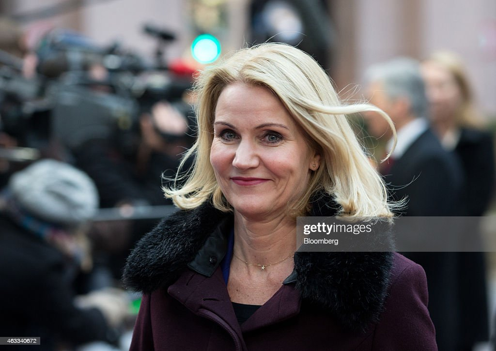 <a gi-track='captionPersonalityLinkClicked' href=/galleries/search?phrase=Helle+Thorning-Schmidt&family=editorial&specificpeople=2485486 ng-click='$event.stopPropagation()'>Helle Thorning-Schmidt</a>, Denmark's prime minister, arrives for a European Union leaders summit in Brussels, Belgium, on Thursday, Feb. 12, 2015. EU leaders will take up the baton on Greece when they gather in Brussels on Thursday after finance ministers from the euro area postponed decisions on the country's future financing until next week. Photographer: Jasper Juinen/Bloomberg via Getty Images