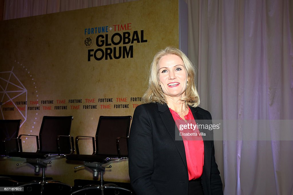 Helle Thorning-Schmidt, Former Prime Minister of Denmark and CEO of Save the Children International, attend the Fortune + Time Global Forum 2016 on December 2, 2016 in Rome, Italy.