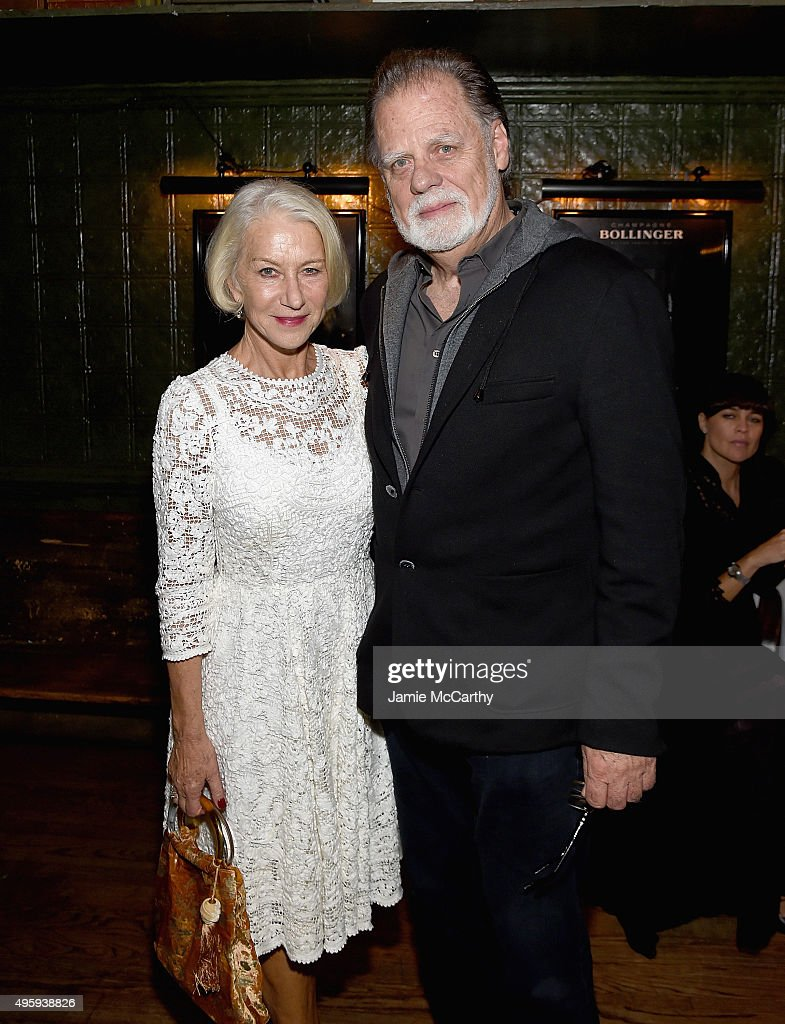 Hellen Mirren and Taylor Hackford attend the the after party for the 'Spectre' prerelease screening hosted by Champagne Bollinger and The Cinema...
