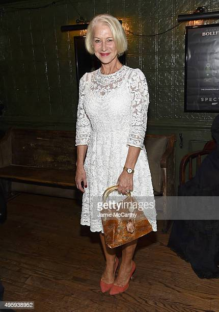 Hellen Mirren attends the the after party for the 'Spectre' prerelease screening hosted by Champagne Bollinger and The Cinema Society on November 5...