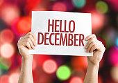 Hello December placard