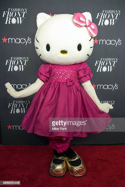 Hello Kitty attends Macy's Presents Fashion's Front Row during Spring 2016 New York Fashion Week at The Theater at Madison Square Garden on September...