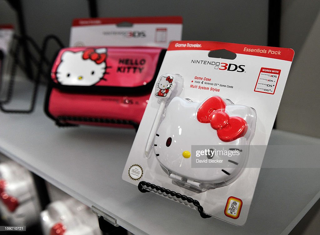 'Hello Kitty' branded video game cases are seen at the R.D.S. booth at the 2013 International CES at the Las Vegas Convention Center on January 9, 2013 in Las Vegas, Nevada. CES, the world's largest annual consumer technology trade show, runs through January 11 and is expected to feature 3,100 exhibitors showing off their latest products and services to about 150,000 attendees.