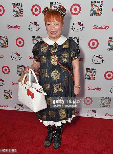 Hello Kitty designer Yuko Yamaguchi arrives to Hello Kitty Con 2014 Opening Night Party Cohosted by Target on October 29 2014 in Los Angeles...