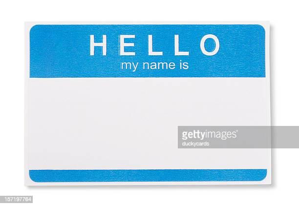 Hallo, mein Name ist Tag-Abzeichen mit Schneidepfaden