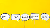 Hello in many different languages.