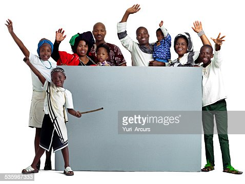 Hello to you from our family : Stock Photo
