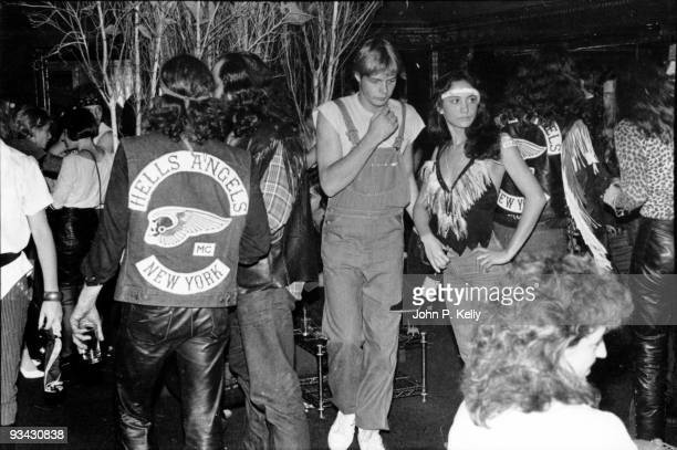 Hells Angels at Studio 54 in New York City circa 1975