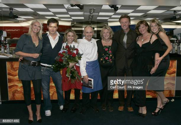 Hell's Kitchen 2007 winner Barry McGuigan celebrates with former Hell's Kitchen contestants Anneka Rice Brian Dowling Adele Silva Rosie Boycott Paul...