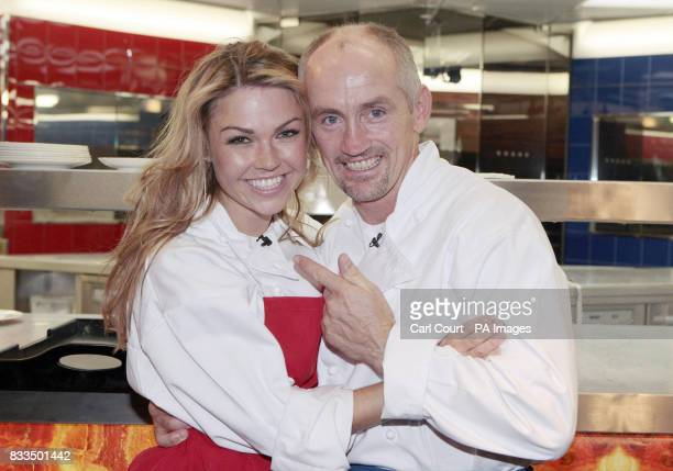 Hell's Kitchen 2007 winner Barry McGuigan celebrates with runner up Adele Silva seconds after he was announced as the overall winner of the reality...