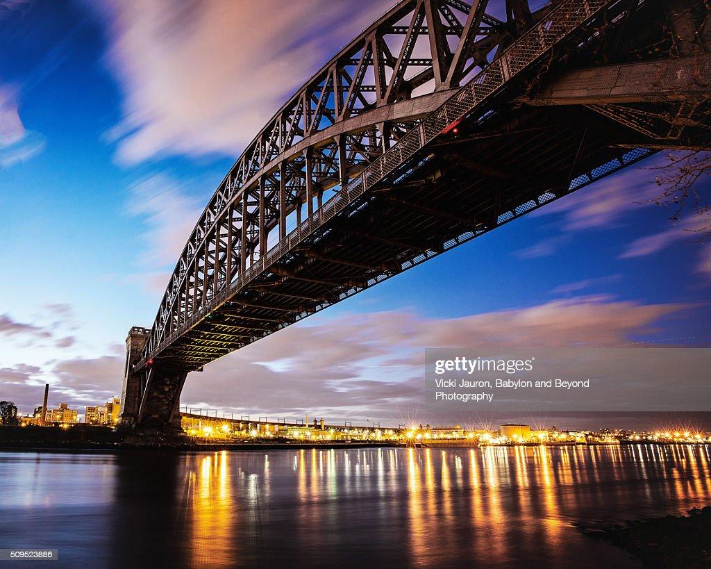 Hellsgate Bridge Long Exposure from Astoria Park, Queens