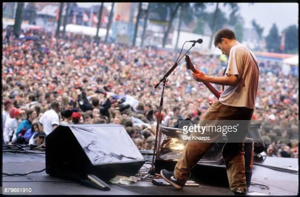 Helmet Page Hamilton performing on stage Pukkelpop Festival Hasselt Belgium 27th August 1994
