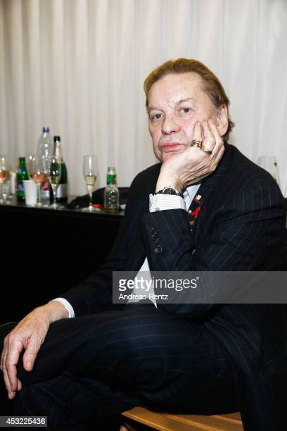 Helmut Berger attends the GarconF fashion show at BalloniHallen on August 5 2014 in Cologne Germany