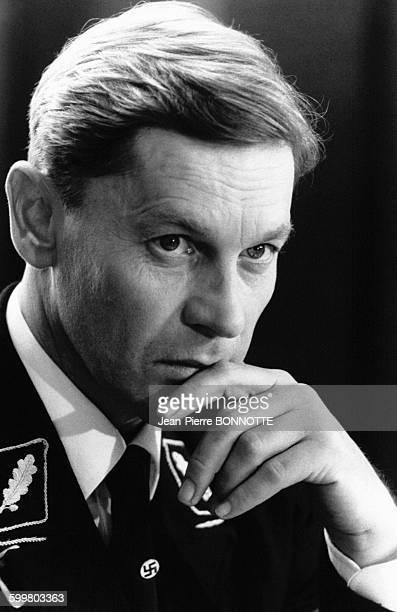 Helmut Berger est l'un des protagonistes du film 'Nom de code émeraude' de Jonathan Sanger en octobre 1984 en France