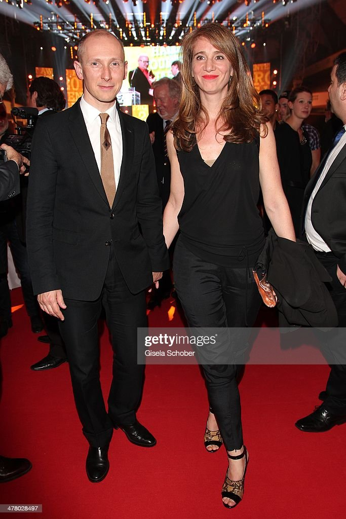 Helmut Lotti and wife Jelle van Riet attend the LEA Live Entertainment Award 2014 at Festhalle Frankfurt on March 11 2014 in Frankfurt am Main Germany