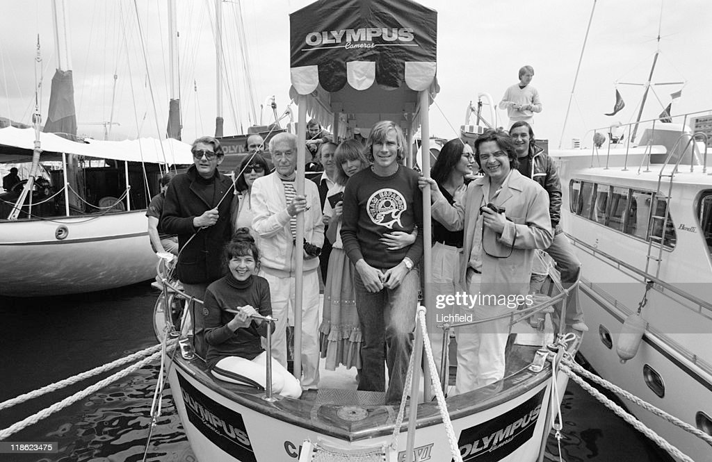 <a gi-track='captionPersonalityLinkClicked' href=/galleries/search?phrase=Helmut+Newton&family=editorial&specificpeople=175940 ng-click='$event.stopPropagation()'>Helmut Newton</a>, James Hunt, David Bailey and Jacques-Henri Lartigue, (centre row l to r) German-Australian fashion photographer <a gi-track='captionPersonalityLinkClicked' href=/galleries/search?phrase=Helmut+Newton&family=editorial&specificpeople=175940 ng-click='$event.stopPropagation()'>Helmut Newton</a>, French photographer Jacques-Henri Lartigue, British Formula 1 World Champion racing driver James Hunt and British fashion photographer David Bailey, Monte Carlo, Monaco, 4th May 1978.