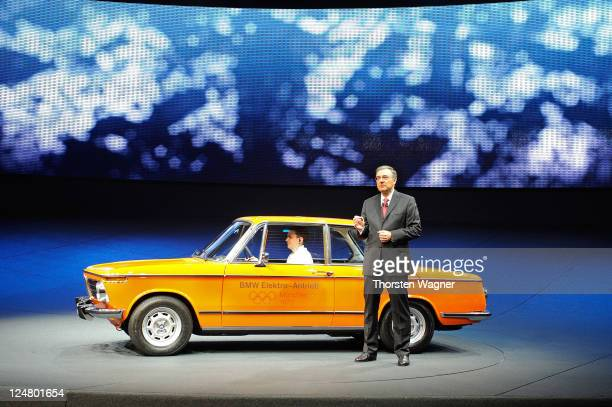 Helmut Reithofer speaks to the media during the press days at the IAA Frankfurt Auto Show on September 13 2011 in Frankfurt am Main Germany The IAA...