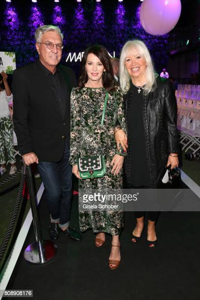 Helmut Schlotterer Chairman of the board Founder and Owner of Marc Cain Iris Berben and Ute Schlotterer attend the Marc Cain Fashion Show...