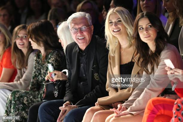 Helmut Schlotterer Chairman of the board Founder and Owner of Marc Cain Lena Gercke and Lena MeyerLandrut sit front row during the Marc Cain Fashion...