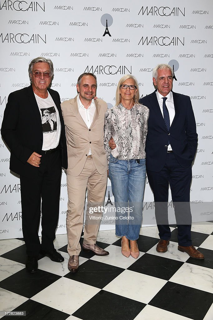 Helmut Schlotterer, Matthias Behr, Karin Veit and Norbert Lock attend the Marc Cain Photocall during the Mercedes-Benz Fashion Week Spring/Summer 2014 at the Hotel Adlon on July 4, 2013 in Berlin, Germany.