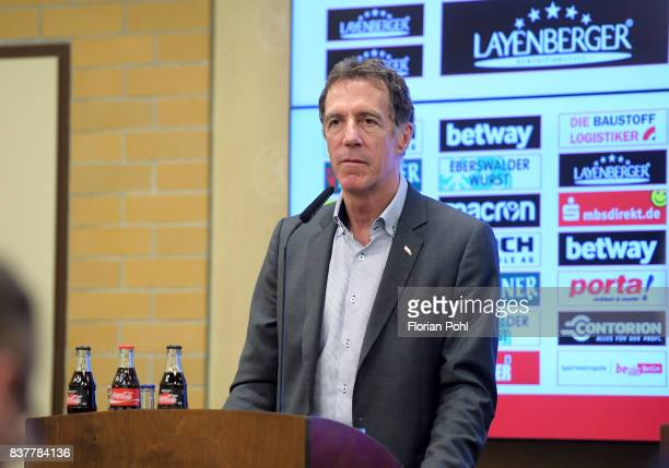 Helmut Schulte of 1 FC Union Berlin during the presentation on august 23 2017 in Berlin Germany