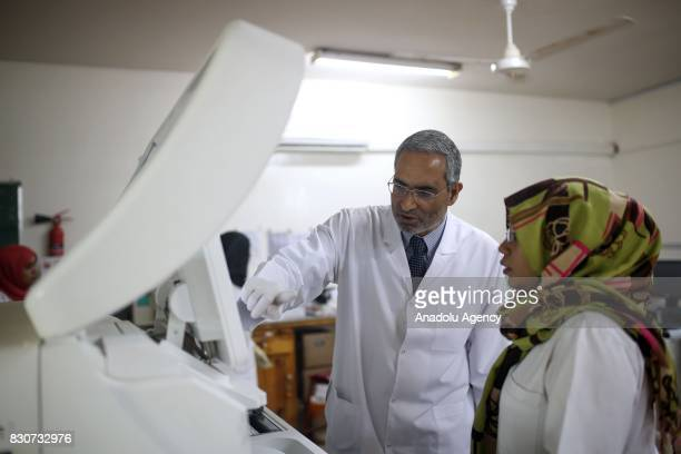 Helmy Elgazzar 62 years old Egyptian Muslim Brotherhood leader former Parliament member and Laboratory Doctor gives a lecture in Khartoum Sudan on...