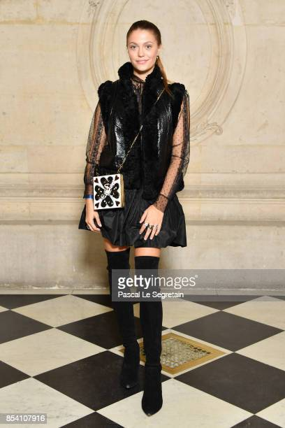 Heloise Agostinelli attends the Christian Dior show as part of the Paris Fashion Week Womenswear Spring/Summer 2018 on September 26 2017 in Paris...