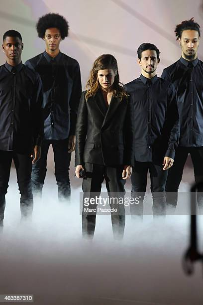 Heloise Letissier aka Christine and the Queens performs during the 30th 'Victoires de la Musique' French Music Awards Ceremony at le Zenith on...