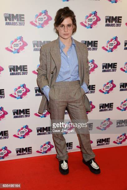 Heloise Letissier of Christine And The Queens arrives at the VO5 NME awards 2017 on February 15 2017 in London United Kingdom