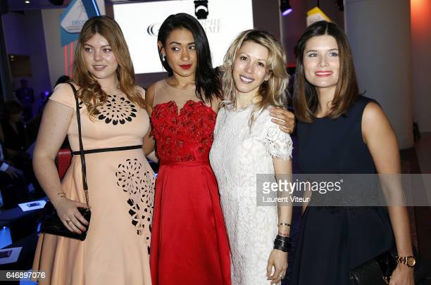 Heloise Martin Josephine Jobert Tristane Banon and Flavie Pean attends the Christophe Guillarme show as part of the Paris Fashion Week Womenswear...