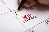 Help Others calendar note