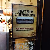 Help wanted Chipotle Mexican food Fashion Show Mall Now hiring