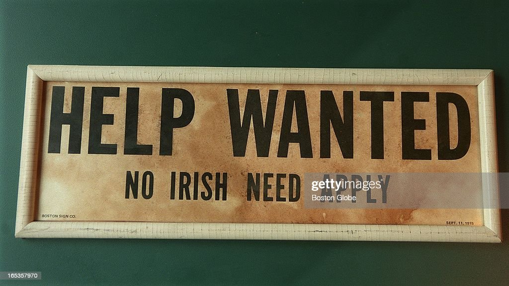 Image result for no irish need apply  getty images