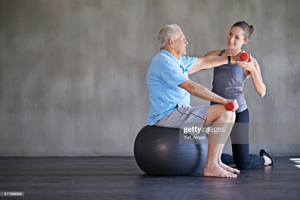 Aiutare i pazienti a rimanere in forma e in salute : Foto stock