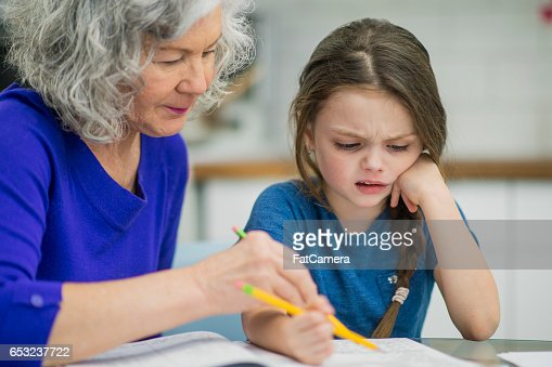 Helping with a Homework Assignment : Stock Photo