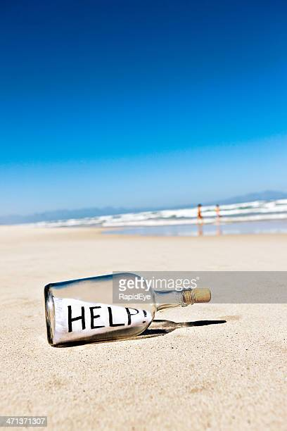 Helps says message in bottle washed up on shore