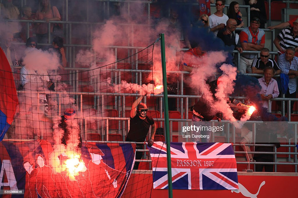 Helsingborgs IF during the Allsvenskan match between Helsingborgs IF and IFK Goteborg at Olympia on May 29, 2016 in Helsingborg, Sweden.