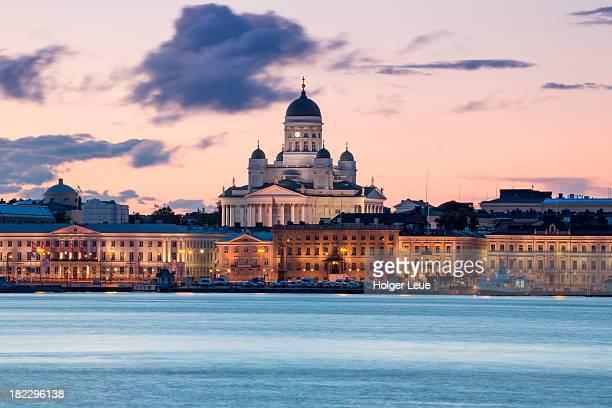 Helsinki Cathedral at dusk