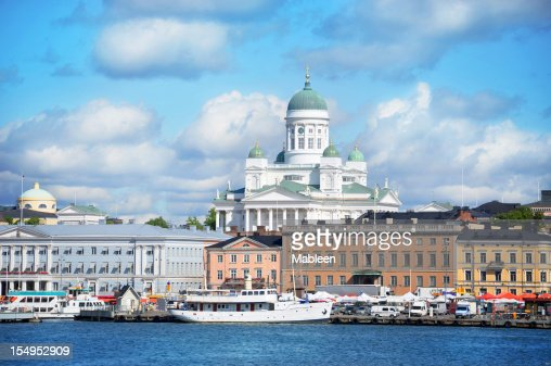Helsinki harbour by summer