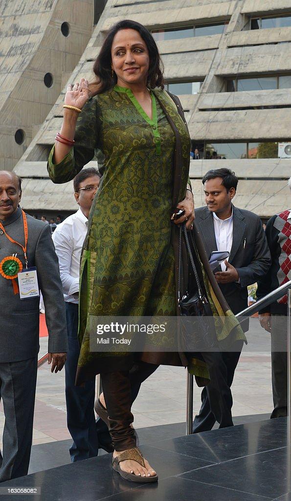 Hema Malini at BJP National Executive in New Delhi on Friday.