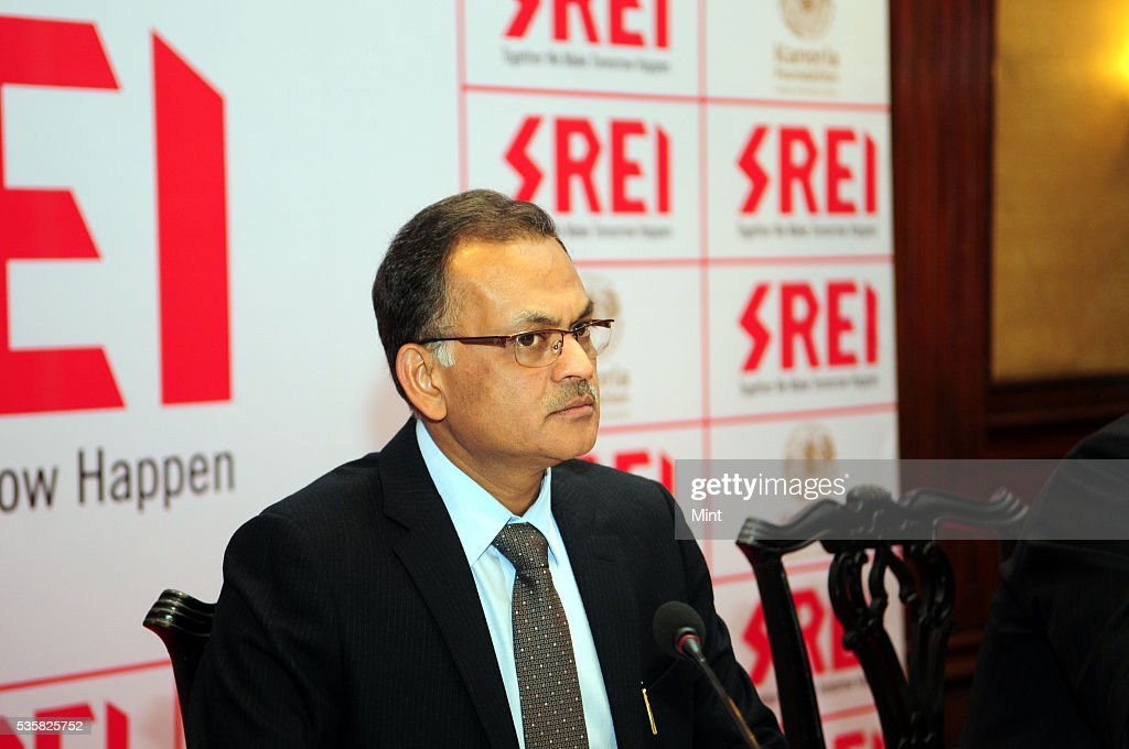 Hemant Kanoria- Chairman & Managing Director of Srei Infrastructure Finance Ltd., addressing press at Oberoi Grand Hotel on December 29, 2015 in Kolkata, India.