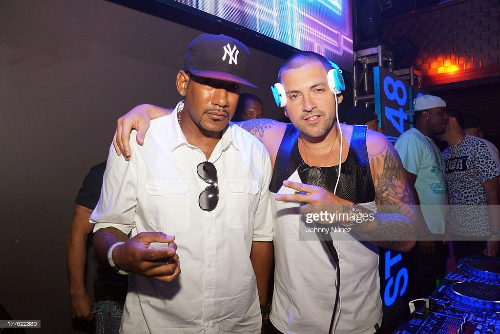 Hen Roc and DJ Prostyle attend the We The Best Day Party at Stage 48 on August 24, 2013 in New York City.