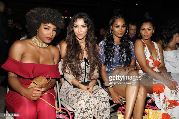 Hencha Voight Metisha Schaefer Ashley Nicole Roberts and Darnelle Nicole attend The Nicole Miller 2017 Spring Collection At The Underground...