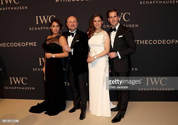 Hend Sabri IWC Schaffhausen CEO Georges Kern Raya Abirached and Christoph GraingerHerr attend the IWC Schaffhausen 'Decoding the Beauty of Time' Gala...