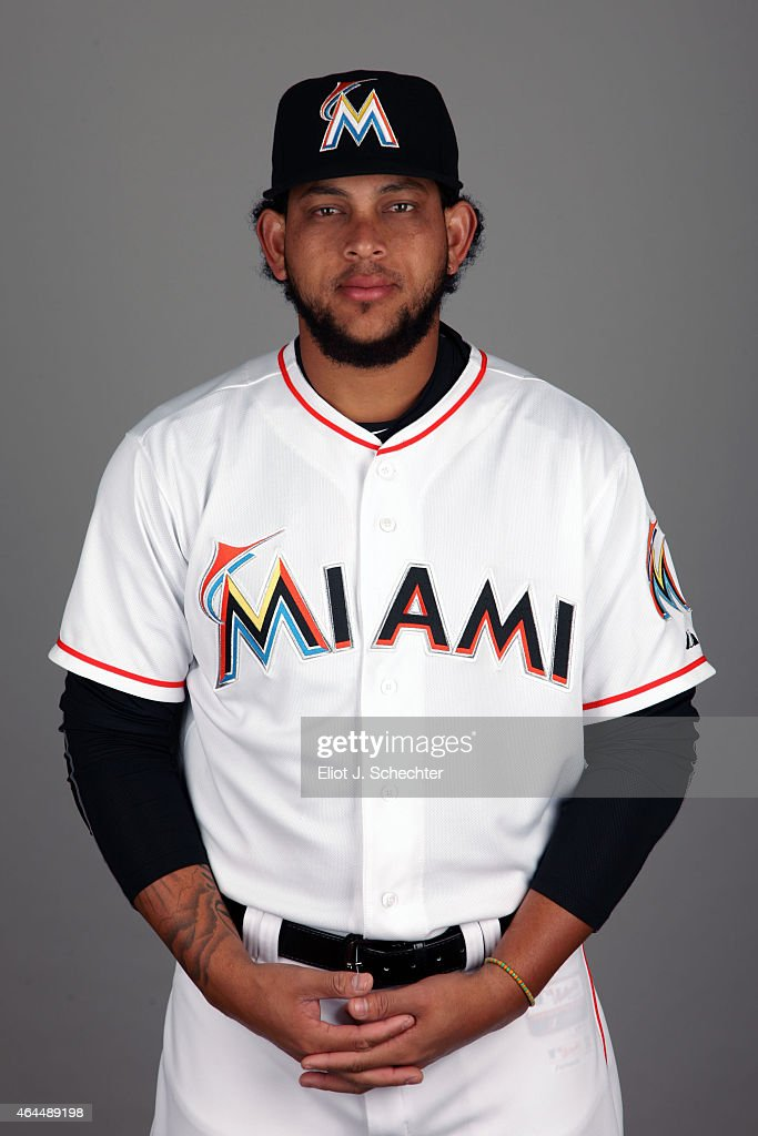 <a gi-track='captionPersonalityLinkClicked' href=/galleries/search?phrase=Henderson+Alvarez&family=editorial&specificpeople=7091625 ng-click='$event.stopPropagation()'>Henderson Alvarez</a> #37 of the Miami Marlins poses during Photo Day on Wednesday, February 25, 2015 at Roger Dean Stadium in Jupiter, Florida.