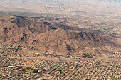 Aerial view of Southeastern Henderson Nevada, I 505 lies at the base of the hill