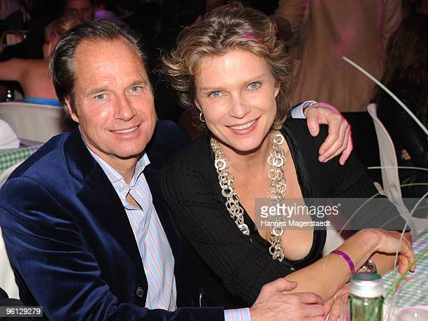 Hendrik Te Neuss and Stephanie von Pfuel attend the 'Schnitzelessen Party' at Rosis Sonnenbergstuben on January 23 2010 in Kitzbuehel Austria